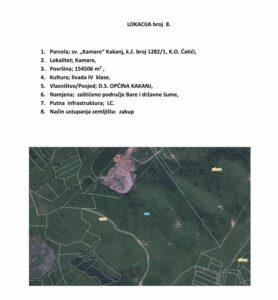 Parcele koje su dijelom Zaštićenog područja Bare
